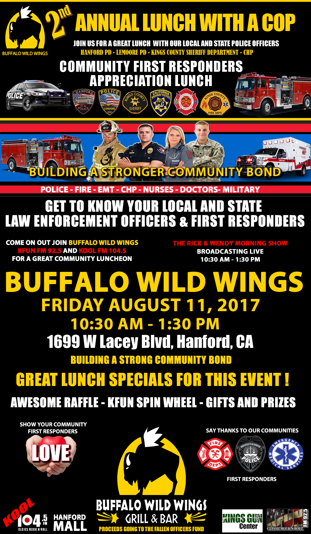 2017 WITH A COP BUFFALO WILD WINGS
